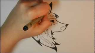 How to draw a Tribal Wolf