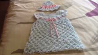 getlinkyoutube.com-Vestidito  para bebe en crochet