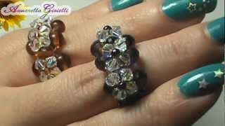 getlinkyoutube.com-Tutorial anello swarovski - per principianti - (DIY swarovski ring)