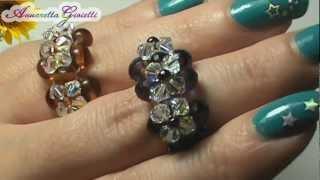 Tutorial anello swarovski - per principianti - (DIY swarovski ring)