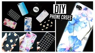 DIY Easy & Affordable Tumblr Inspired Custom Phone Cases // Grid, Watercolor, Floral, Holographic