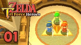 getlinkyoutube.com-ZELDA TRI FORCE HEROES 3DS #01 - Trio de choc !