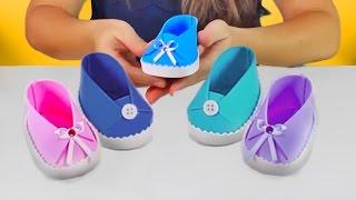 getlinkyoutube.com-Sapatinho de Bebê para Lembrancinha | Fácil de Fazer