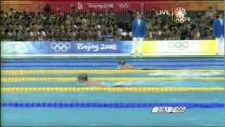 getlinkyoutube.com-Michael Phelps' 1st Gold - 2008 Beijing Olympics Men's 400m Medley
