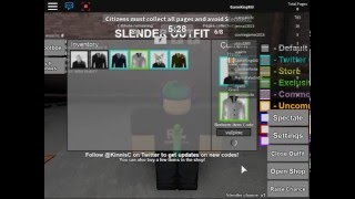 getlinkyoutube.com-ROBLOX:Stop it, Slender! 2 (Twiter Codes)