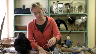 getlinkyoutube.com-How to Make a Wire Armature of a Person by Sarafina Fiber Art