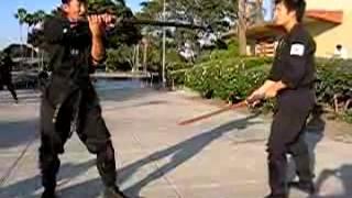 getlinkyoutube.com-Chosun Ninja - Ninja Sword Umbrella Technique