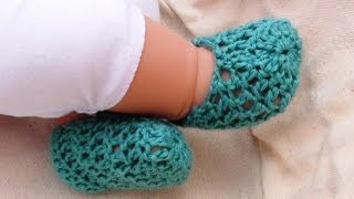 getlinkyoutube.com-Summer Crochet Baby Booties by Crochet Hooks You