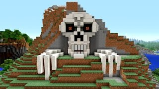 getlinkyoutube.com-Minecraft Tutorial: How to Make a Skeleton House | Scary Halloween House | Cave House | Skull