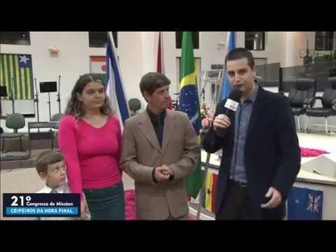 21º Congresso de Missões - AD Içara - Entrevista com os miss. Joel e Karina Medeiros  - 13 11 2015