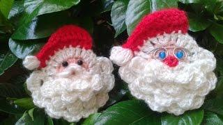 getlinkyoutube.com-Como hacer la cara de Papa Noel a crochet/Tejemos!?