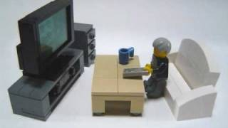 getlinkyoutube.com-How to make Lego furniture.