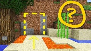 getlinkyoutube.com-Minecraft: Cool Secret Door / Base Tutorial #2 How to Build a Hidden House