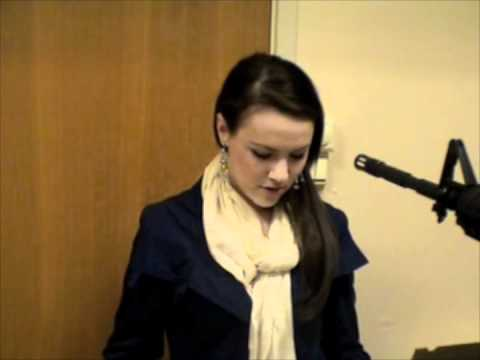 machine gun comes out of nowhere girl at audition gets shot 2011 mysterious man in stairway