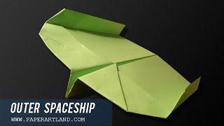 Как сделать бумажный самолетик Бумеранг | Spaceship