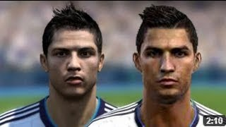 FIFA 13 v PES 13 Faces Head to Head [HD] part 3
