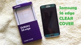 getlinkyoutube.com-Unboxing Samsung S6 edge CLEAR COVER in Green