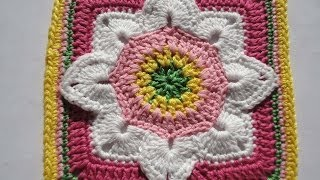 getlinkyoutube.com-Квадратный мотив The square motif Crochet