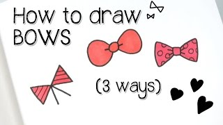 Beginner Doodles! Draw Cute Bows in 3 ways | Doodle with Me