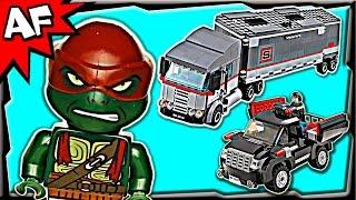 getlinkyoutube.com-BIG RIG SNOW GETAWAY 79116 Lego TMNT Teenage Mutant Ninja Turtles Stop Motion Set Review