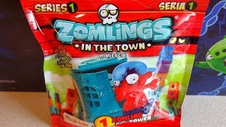getlinkyoutube.com-Zomlings In The Town Surprise Blind Bags 100 Figures + Tower to Collect Juguetes Sorpresa