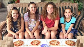 getlinkyoutube.com-The Pizza Challenge!  (Haschak Sisters)