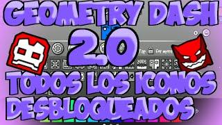 getlinkyoutube.com-TODOS LOS ICONOS DESBLOQUEADOS GEOMETRY DASH 2.0