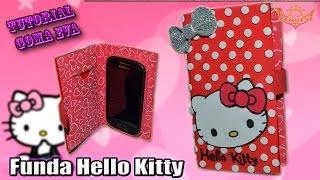 getlinkyoutube.com-♥ Tutorial: Funda Hello Kitty tipo FLIP de Goma Eva (Foamy) ♥