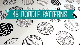 getlinkyoutube.com-48 EASY & AWESOME DOODLE PATTERNS | SPEED-UP ART | SOLLOMIO