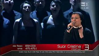 getlinkyoutube.com-Suor Cristina   'Uno su mille'  En la gran final de La Voz Italia
