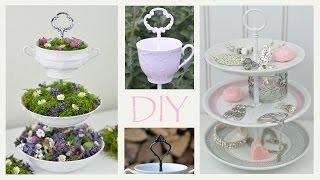 getlinkyoutube.com-DIY - Etagere aus altem Geschirr selbermachen /romantische Deko, Vintage, Shabby Chic / How to