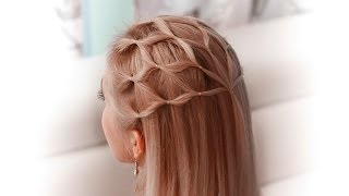 getlinkyoutube.com-Hair net tutorial: cute hairstyle for a princess/elf/fairy/goddess/angel cosplay