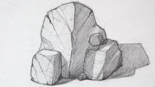 getlinkyoutube.com-How to Draw Rocks - Basic Shapes