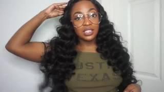 Ali Moda Brazilian Loose Wave Review .Grade 7A Brazilian Virgin Hair Loose Wave Natural Black