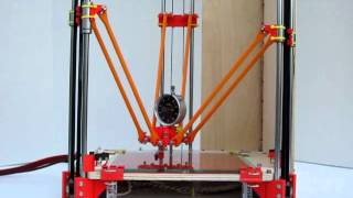 getlinkyoutube.com-Rostock delta robot 3D printer prototype