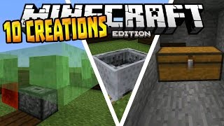 getlinkyoutube.com-10 AWESOME CREATIONS in MCPE!!! - 0.15.0 Redstone Creation - Minecraft PE (Pocket Edition)