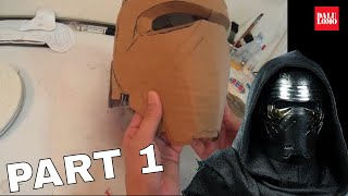 getlinkyoutube.com-#109: Kylo Ren Helmet Part 1 - Cardboard | Star Wars 7 | Costume | How To | Dali DIY
