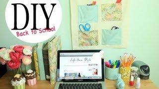getlinkyoutube.com-DIY Wall Organizer & Desk Accessories {Back to School Ideas} by ANNEORSHINE