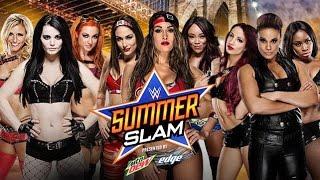 getlinkyoutube.com-WWE Summerslam 2015 Preview: Team Bella vs Team B.A.D. vs Team PCB