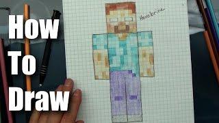 getlinkyoutube.com-How To Draw - Herobrine from Minecraft