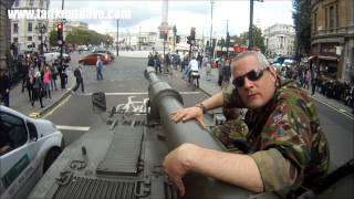 getlinkyoutube.com-Driving A Tank Past Big Ben & Downing Street In London! 17th October 2013