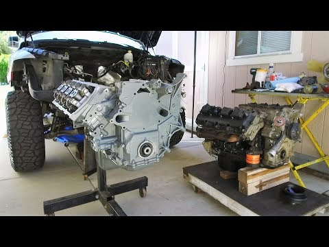 """HEMI Swap with Jasper Engines Replacement 5.7 in a Dodge Ram 1500 on 37"""" Tires"""