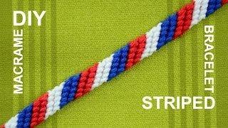 getlinkyoutube.com-How to Make a Candy Stripe / Diagonal Striped Friendship Bracelet / Beginner
