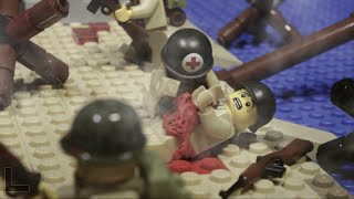 getlinkyoutube.com-LEGO WW2 BATTLE: NORMANDY D-DAY LANDING - LEGO SAVING PRIVATE RYAN