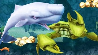 BIGGEST MOBY DICK  Vs Boss CRAB -  Hungry Shark Evolution