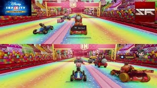 getlinkyoutube.com-Wreck-It Ralph & Vanellope von Schweetz - Sugar Rush Raceway - 100cc - Disney Infinity 3.0 [GER]