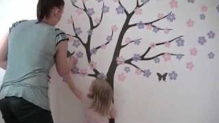 getlinkyoutube.com-Wall decals installation video by Surface Inspired