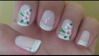 getlinkyoutube.com-Unhas Decoradas Rendinha com Flor de Poá Manual Bela e Simples Nail Art
