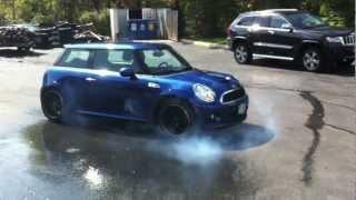 getlinkyoutube.com-Turbo Mini Cooper Exhaust Revs & Burnout
