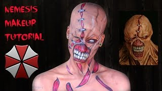 getlinkyoutube.com-Nemesis Makeup Tutorial | Resident Evil